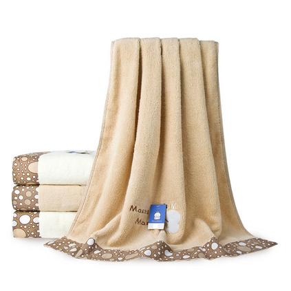 三利毛巾  純棉繡花浴巾 斷檔加厚浴巾