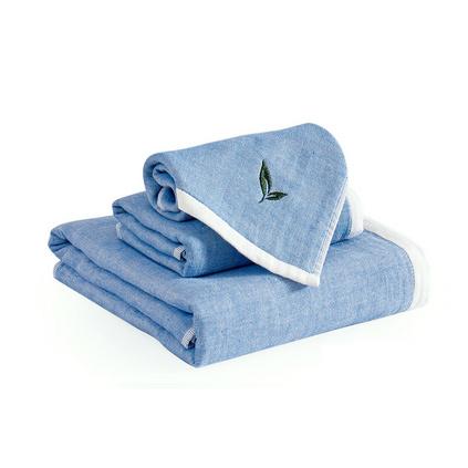 三利美肌密語 純棉加厚柔軟面巾 精梳無捻綠茶香味毛巾