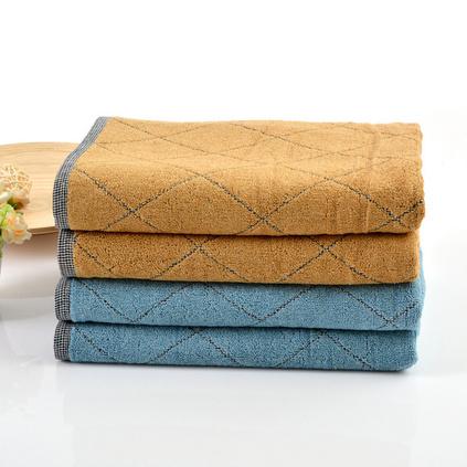 三利毛巾32股全棉提花吸水毛巾 轻柔格庭面巾