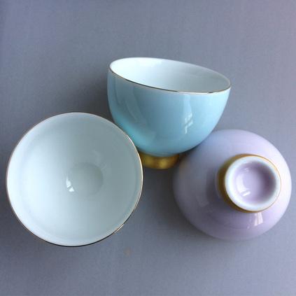 彩虹之戀陶瓷品茗茶杯功夫茶具描金彩色個人水杯普洱觀音茶杯