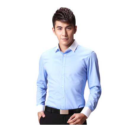 男士长袖衬衫商务修身职业正装免烫男士衬衫团体亚博体育app下载地址