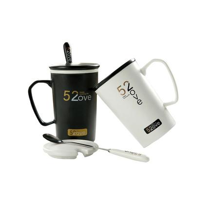 创意马克杯带盖 广告大容量个性情侣咖啡杯定制