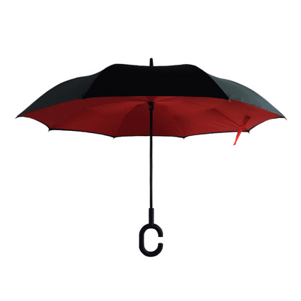 反向伞免持式雨伞C型晴雨伞汽车专用雨伞定制
