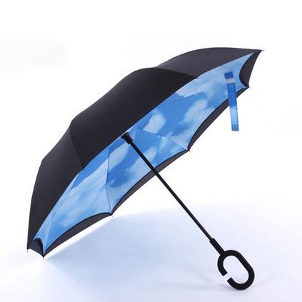 反向傘免持式雨傘C型晴雨傘汽車專用雨傘定制