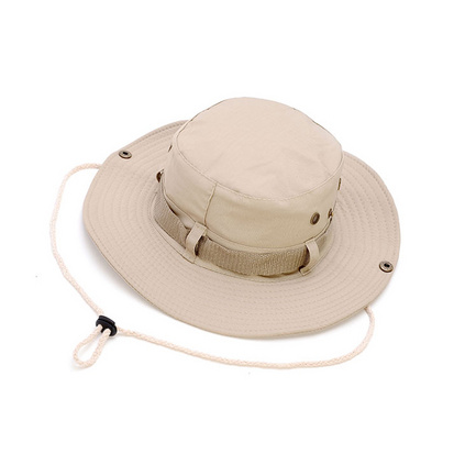 奔尼帽米色大檐帽 圆边帽格子布男女登山户外渔夫帽子遮阳帽定制