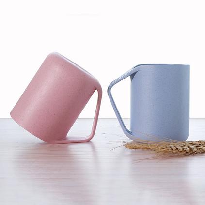創意可愛小麥杯 情侶塑料洗漱杯 漱口杯 刷牙杯