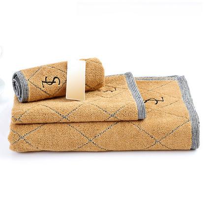 三利毛巾 格紋系列 純棉浴巾