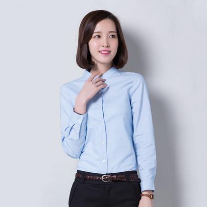 女士立領長袖襯衫 IT文員制服 辦公室工作服