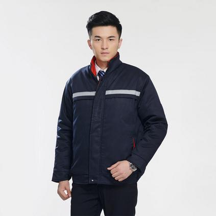 男士夾克冬裝工作勞保服 反光拉鏈 汽修工裝 勞保服 來圖定制