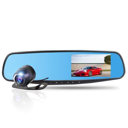 凯迪龙E308行车记录仪双镜头高清广角夜视倒车影像一体机