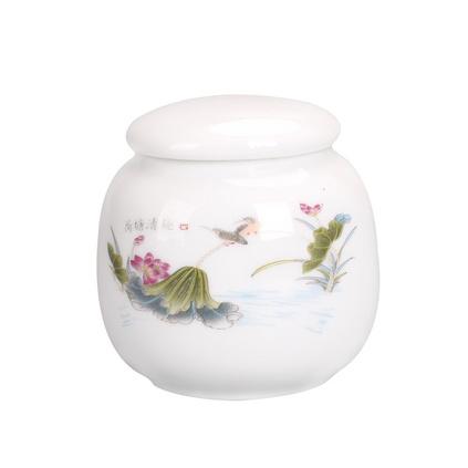 迷你茶葉罐德化白瓷普洱茶紅茶茶葉罐便攜小號茶葉陶瓷罐