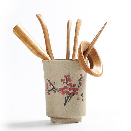 粗陶茶葉罐陶瓷普洱散裝茶葉密封罐存儲物罐大小號茶葉包裝盒茶杯定制