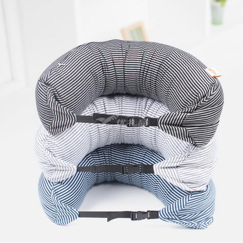 车用品枕头微粒子U型枕 微粒子U型枕 长条枕午休护颈枕 时尚旅行颈枕定制
