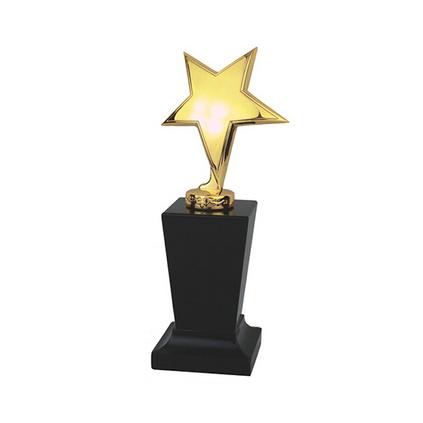 立体单星实心锌合金奖牌定制 企业奖杯 公司年终奖杯定做