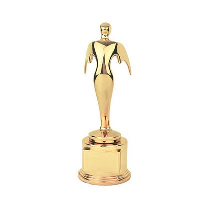 小飛人獎杯 金屬小金人獎杯定制 高檔個性獎杯三色定做