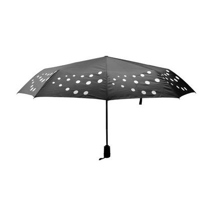 遇水變色雨傘全新專利技術產品三折全自動傘圓點波點變色傘雨傘定制