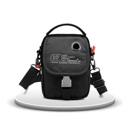 殼羅沃 E9802隨身軍綠色腰包 智能屏蔽技術安全防盜多功能時尚腰包 防盜繩扣定制