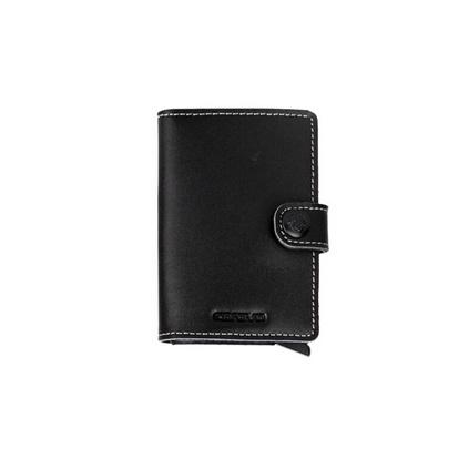 壳罗沃 金盾系列2802 智能金属银行卡夹 信用卡盒 真皮皮套 智能屏蔽技术JX2802