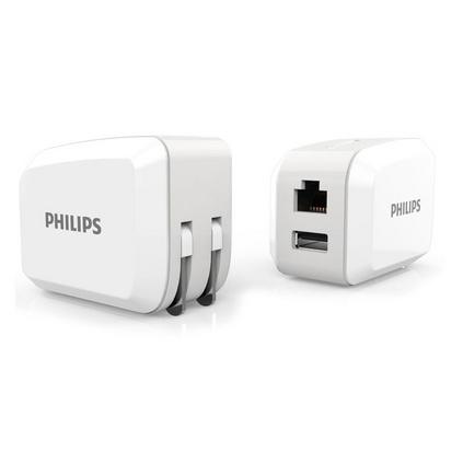 飞利浦无线路由器WiFi充电头插头150M 家用便携迷你USB充电器