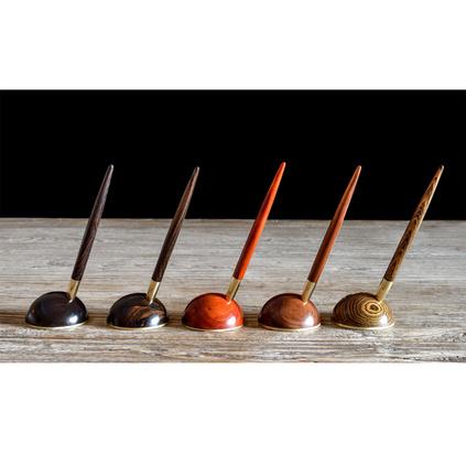 紅木禮品筆兩件套德國施耐德筆芯非洲酸枝木黃金檀科檀印尼黑檀紫光檀+銅定制