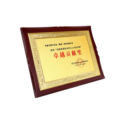 獎牌定做授權牌金箔牌匾制作掛牌木托木質證書定制訂做