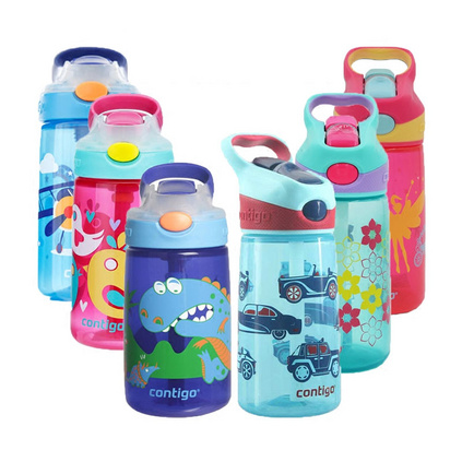 contigo寶寶防漏吸管杯卡通兒童水壺嬰兒帶手柄學飲牛奶杯康迪克