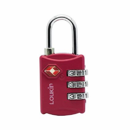 路尔新(Loukin)Ref:651 TSA密码行李锁 海关锁 出国行李锁 红色