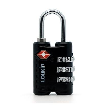 路爾新(Loukin)Ref:651 TSA密碼行李鎖 海關鎖 出國行李鎖 黑色