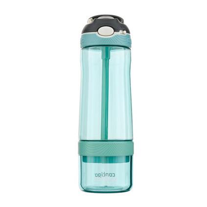 contigo果汁杯 美国进口成人孕妇带吸管水杯塑料夏季学生水杯防漏