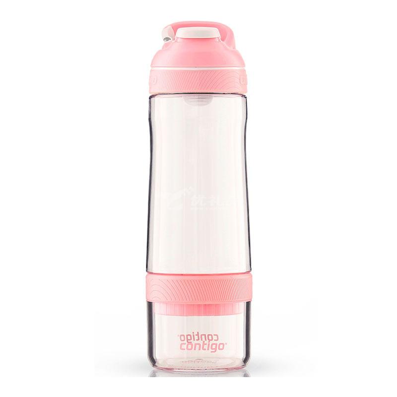 contigo果汁杯 美國進口成人孕婦帶吸管水杯塑料夏季學生水杯防漏