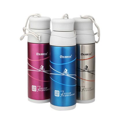 戶外旅行運動水壺 雙層不銹鋼真空保溫磨砂水杯
