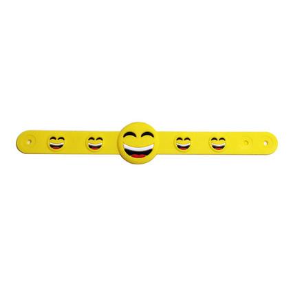 定制PVC软胶表情手腕带 硅胶变色发光笑脸手?#32933;?#24102;定制