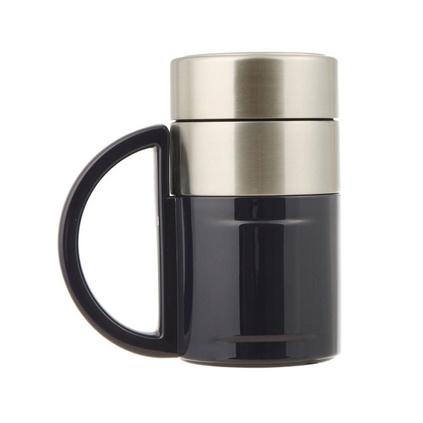 正品匡迪真空商務杯 不銹鋼帶手柄辦公保溫水杯高檔禮品杯子