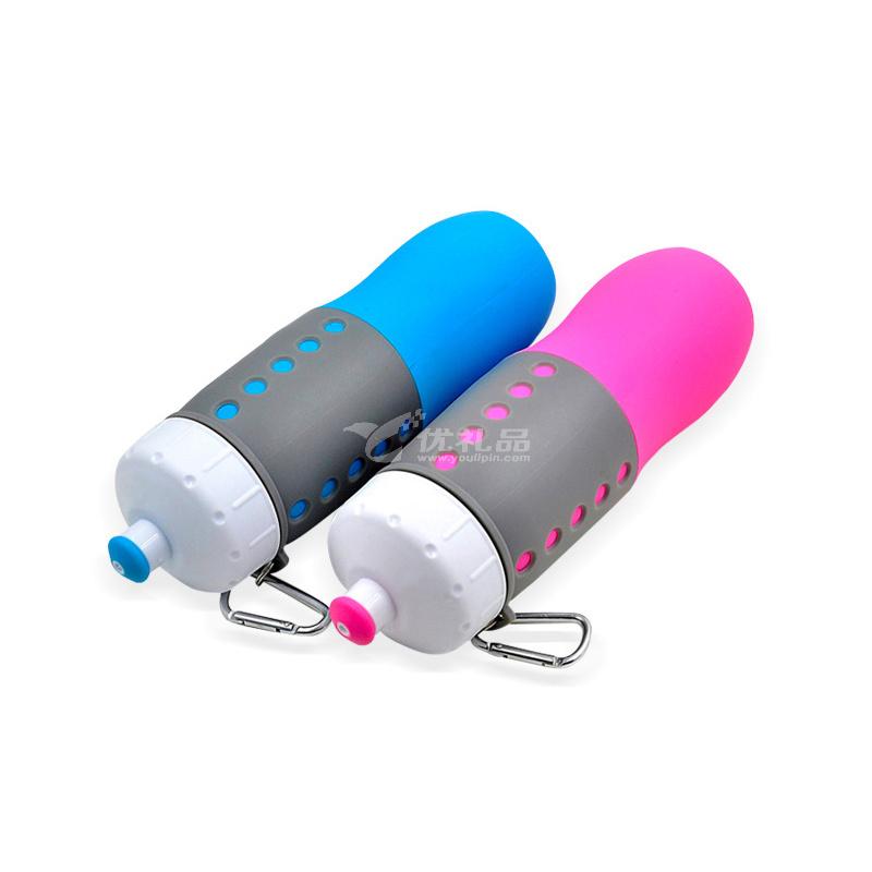 实用便携折叠水壶 户外运动硅胶水壶 新款使用便携水壶