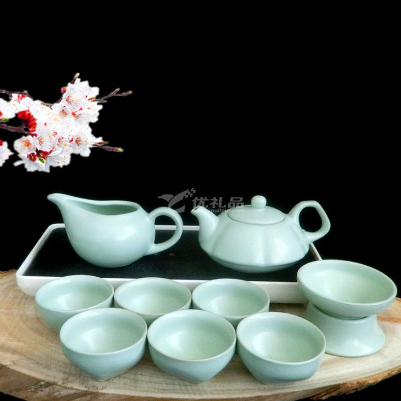 汝窯整套功夫茶具套裝特價陶瓷蓋碗茶杯 高品質茶具套裝