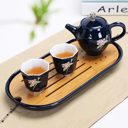 精品功夫茶具套裝 辦公便攜旅行茶具 高檔茶具三件套