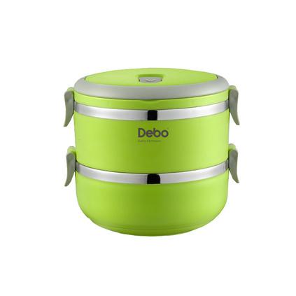 德鉑Debo沃格爾不銹鋼保溫飯盒2層多層學生密封餐盒提鍋1.4L