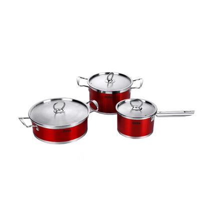 德鉑Debo德國工藝醫用精鋼套鍋湯鍋奶鍋煎鍋組合三件套 斯特拉斯堡DEP-79