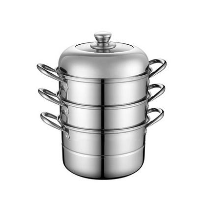 Debo德鉑三層不銹鋼蒸鍋湯鍋28cm燃氣電磁爐通用鍋具蒸籠 拉德堡DEP-289