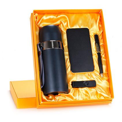 商務禮品套裝四件套 高品質保溫杯電源U盤鋼筆套裝 辦公套裝