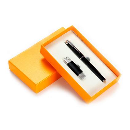 商務禮品套裝2件套簽字筆U盤  辦公禮品套裝  獎品紀念品套裝