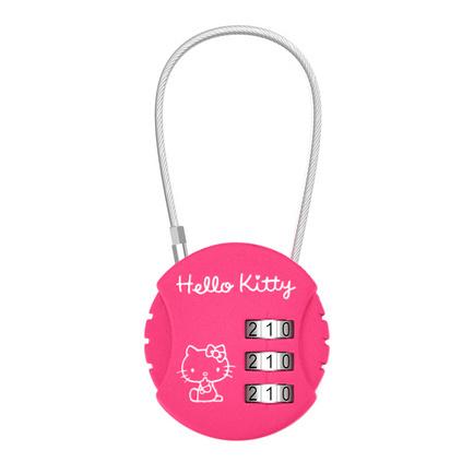 凯蒂猫(HELLO KITTY)LT-641 行李密码锁 圆形密码锁 出差安全锁