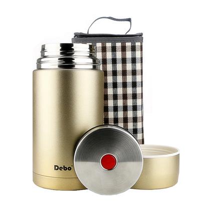 德鉑Debo不銹鋼真空燜燒壺保溫壺保溫桶保溫飯盒燜燒罐粥桶1200ml 維斯DEP-151