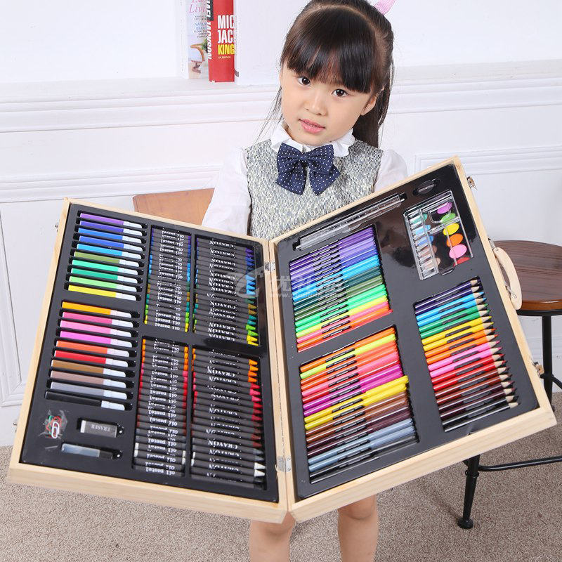兒童節六一禮物 女孩男孩畫筆套裝 彩筆 180件繪畫套裝 美術學習用品