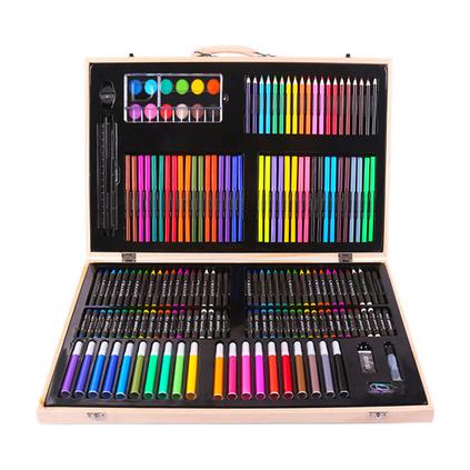 儿童节六一礼物 女孩男孩画笔套装 彩笔 180件绘画套装 ?#26391;?#23398;习用品