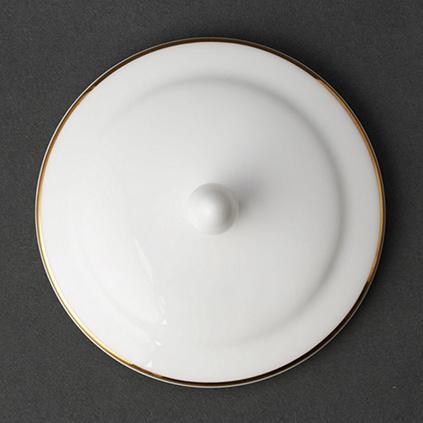 Auratic国瓷永丰源渐变变蓝骨瓷茶杯陶瓷带盖杯套水杯中国风杯子