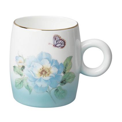 Auratic国瓷永丰源粉色渐变 骨瓷陶瓷杯马克杯水杯 中国风杯子