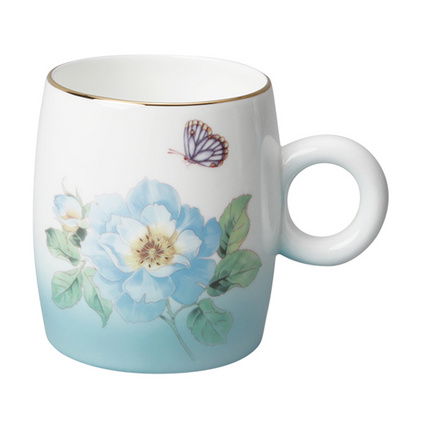 Auratic國瓷永豐源粉色漸變 骨瓷陶瓷杯馬克杯水杯 中國風杯子