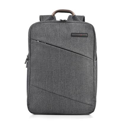 維士十字雙肩背包男女韓版潮商務15.6寸電腦包 灰色