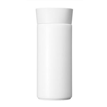 哲品 和悅骨瓷保溫杯過濾水杯便攜帶蓋陶瓷內膽杯子辦公室養生杯